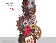 Gagnez une sculpture en chocolat de plus d'un mètre