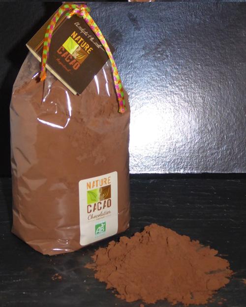 Chocolat en poudre BIO pour Noël