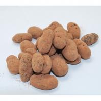 Fèves de cacao enrobées chocolat noir
