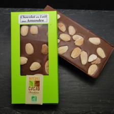 Lot de 3 Tablettes chocolat au lait aux amandes
