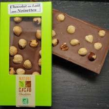 Tablette chocolat au lait aux noisettes